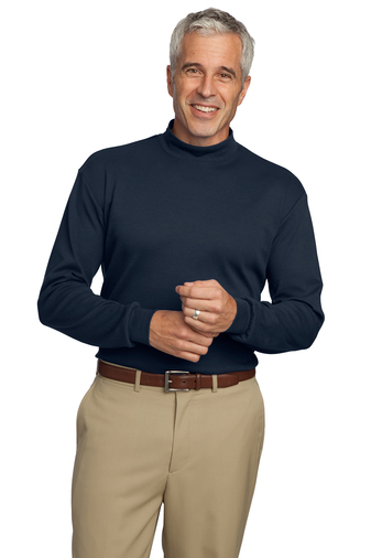 Port Authority - K321 Mens Interlock Knit Mock Turtleneck, Pensacola, Embroidery, Screen Printing, Logo Masters International