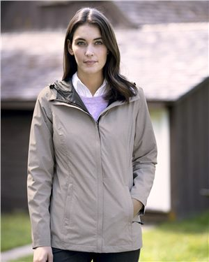 Weatherproof - 86452, 32 Degrees Women's Melange Rain Jacket, Embroidery, Screen Printing - Logo Masters International