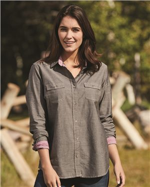 Weatherproof - 26252 Vintage Women's Chambray Long Sleeve Shirt