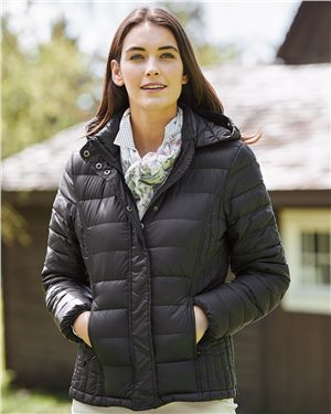 Weatherproof Women's 32 Degrees Hooded Packable Down Jacket
