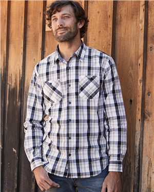 Weatherproof - 24552 Men's Vintage Plaid Long Sleeve Shirt, Pensacola, Embroidery, Screen Printing, Logo Masters International