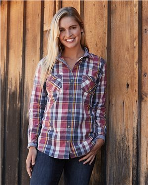Weatherproof - 28052, Vintage Women's Plaid Long Sleeve Shirt, Embroidery, Screen Printing - Logo Masters International