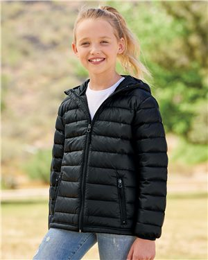 Weatherproof 32 Degrees Youth Packable Hooded Down Jacket