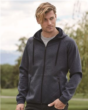 Weatherproof - 10052 Men's Heat Last Fleece Tech Hooded Full-Zip Sweatshirt
