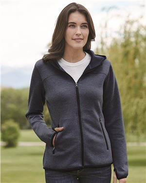 Weatherproof - 10252 Heat Last Women's Fleece Tech Hooded Full-Zip Sweatshirt