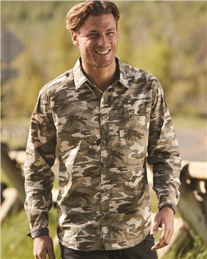 Weatherproof - 22052 Men's Vintage Camo Long Sleeve Shirt, Pensacola, Embroidery, Screen Printing, Logo Masters International
