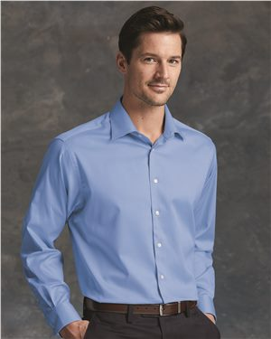 Calvin Klein - 45289 Men's Cotton Stretch Shirt, Pensacola, Embroidery, Screen Printing, Logo Masters International