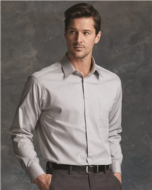 Calvin Klein - 47489  Men's Pure Finish Cotton Shirt, Pensacola, Embroidery, Screen Printing, Logo Masters International
