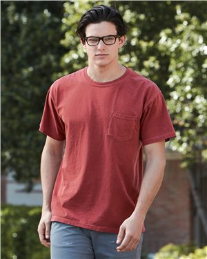 Comfort Colors - 08508 Garment Dyed Heavyweight Ringspun Short Sleeve Shirt with a Pocket