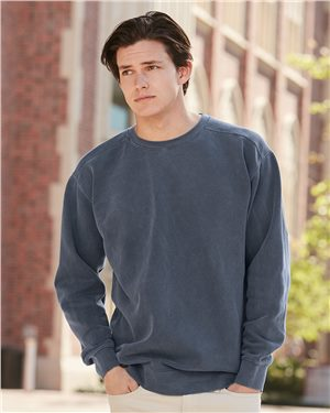 Comfort Colors - 23808, Men's Garment Dyed Ringspun Crewneck Sweatshirt , Embroidery, Screen Printing - Logo Masters International