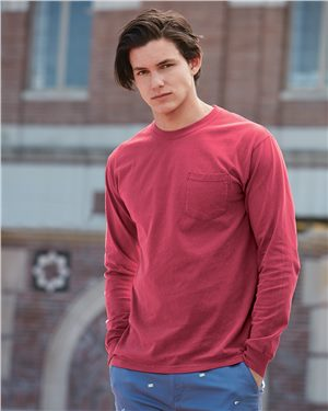 Comfort Colors - 18508 Garment Dyed Heavyweight Ringspun Long Sleeve Pocket T-Shirt