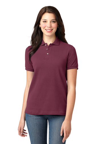 Port Authority - L420 Women's Heavywight Pique Polo Shirt, Pensacola, Embroidery, Screen Printing, Logo Masters International