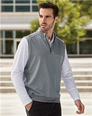 Adidas - 17653 Men's Quarter-Zip Club Vest