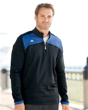 Adidas - 62153, Men's CLIMAWARM Plus Quarter-Zip Jacket - Logo Masters International