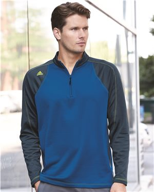 Adidas - 72253   Men's Climawarm+ Quarter-Zip Colorblocked Training Top
