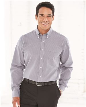 Van Heusen - 42897 Men's Coolest Comfort Check Shirt, Pensacola, Embroidery, Screen Printing, Logo Masters International