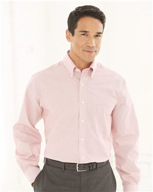 Van Heusen - 43997 Men's Non-Iron Featherstripe Shirt, Pensacola, Embroidery, Screen Printing, Logo Masters International