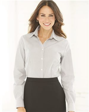 Van Heusen - 43897, Women's Non-Iron Featherstripe Shirt - Logo Masters International