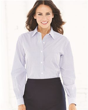 Van Heusen - 52897 Women's Coolest Comfort Check Shirt, Pensacola, Embroidery, Screen Printing, Logo Masters International