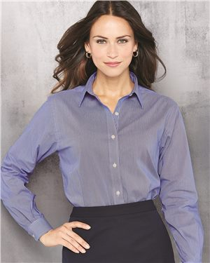 Van Heusen - 41697, Women's Classic Pincord Spread Collar Shirt - Logo Masters International