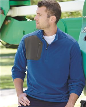 Dri Duck - 80567 Men's Interval DDX Quarter-Zip Nano-Fleece Nylon Pullover