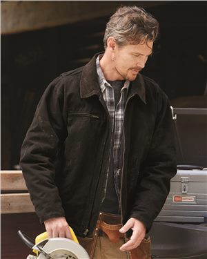 Dri Duck - 81067, Men's Outlaw Boulder Cloth Jacket with Corduroy Collar - Logo Masters International