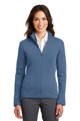 Port Authority - L221  Women's Embroidered Flatback Rib Full-Zip Jacket Sweater, Pensacola, Embroidery, Screen Printing, Logo Masters International