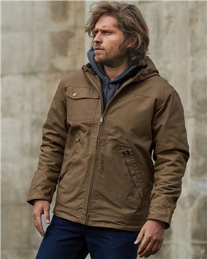 Dri Duck - 40267 Men's Yukon Canvas Hooded Jacket, Pensacola, Embroidery, Screen Printing, Logo Masters International