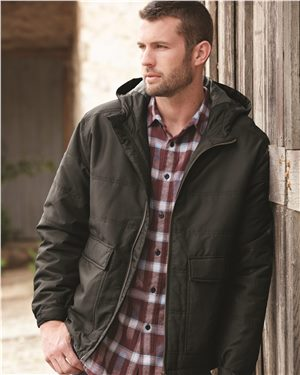 Dri Duck - 80767, Men's Trooper Tuff Tech Therma Puff Hooded Jacket - Logo Masters International