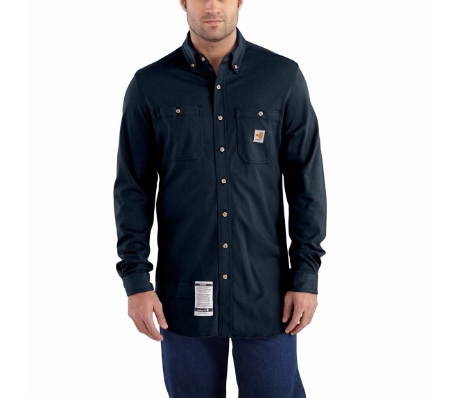 Carhartt - 101698,Men's Flame-Resistant Force Cotton Hybrid Shirt, Embroidery, Screen Printing, Pensacola, Logo Masters International