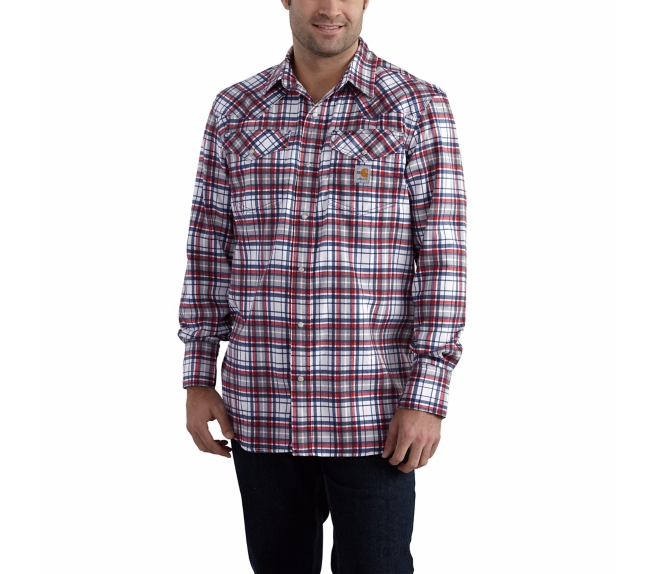 Carhartt - 102015 Men's Flame-Resistant Snap-Front Plaid Shirt, Pensacola, Embroidery, Screen Printing, Logo Masters International