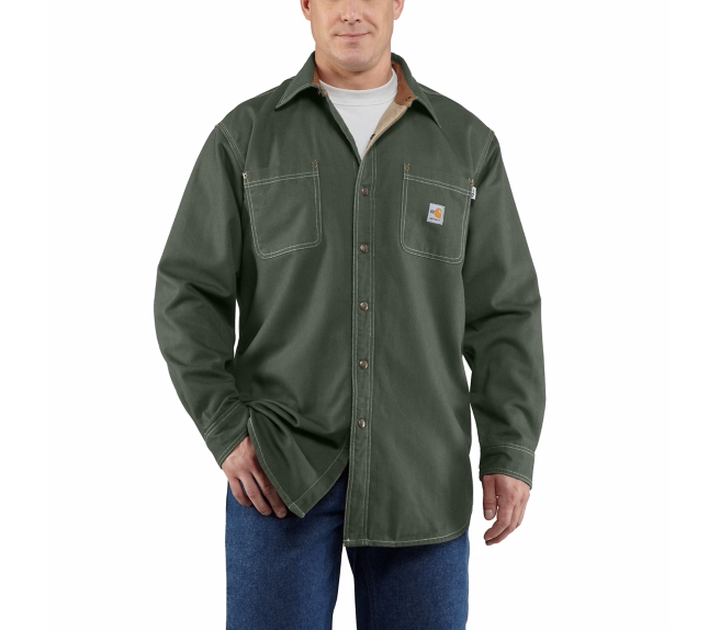 Carhartt - 100432,Men's Flame-Resistant Canvas Twill Shirt JAC, Embroidery, Screen Printing, Pensacola, Logo Masters International