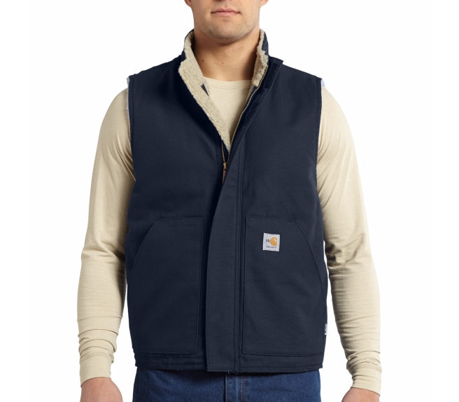 Carhartt - 101029 Men's Flame-Resistant Mock Neck Vest, Pensacola, Embroidery, Screen Printing, Logo Masters International