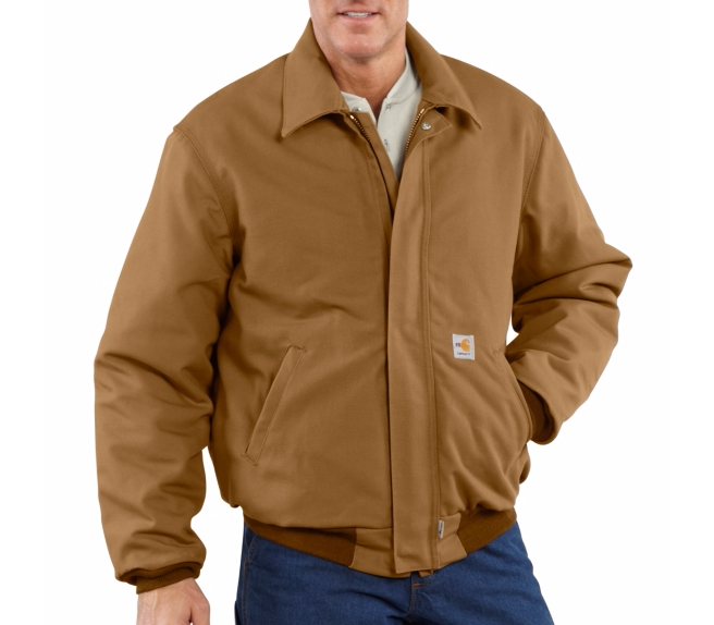 Men's Flame-Resistant Duck Bomber Jacket/Quilt Lined, Embroidery, Screen Printing - Logo Masters International