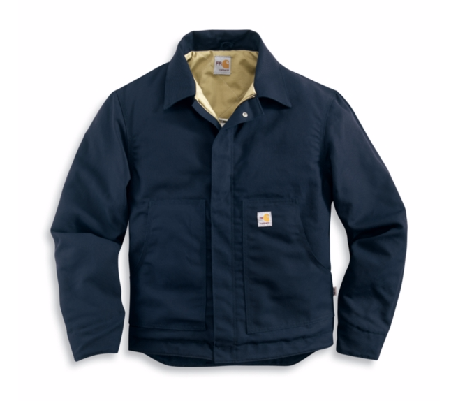 Carhartt - 101624, Men's Flame-Resistant Midweight Canvas Dearborn Jacket/Quilt Lined - Logo Masters International