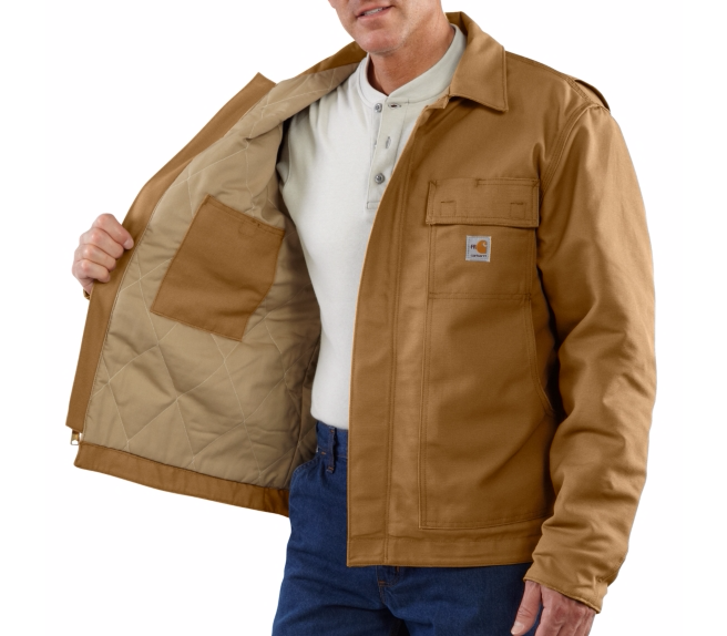 Carhartt - 101625, Men's Flame-Resistant Lanyard Access Jacket/Quilt-Lined - Logo Masters International