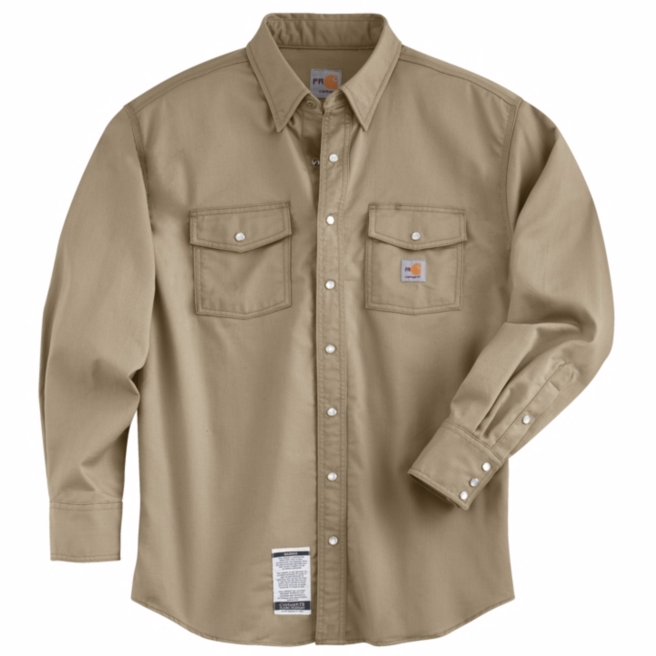 Carhartt - 101572,Men's Flame-Resistant Snap-Front Shirt, Embroidery, Screen Printing, Pensacola, Logo Masters International