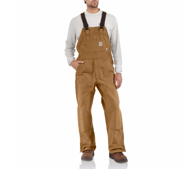 Carhartt - 101627 Men's Flame-Resistant Duck Bib Overall/Unlined, Pensacola, Embroidery, Screen Printing, Logo Masters International