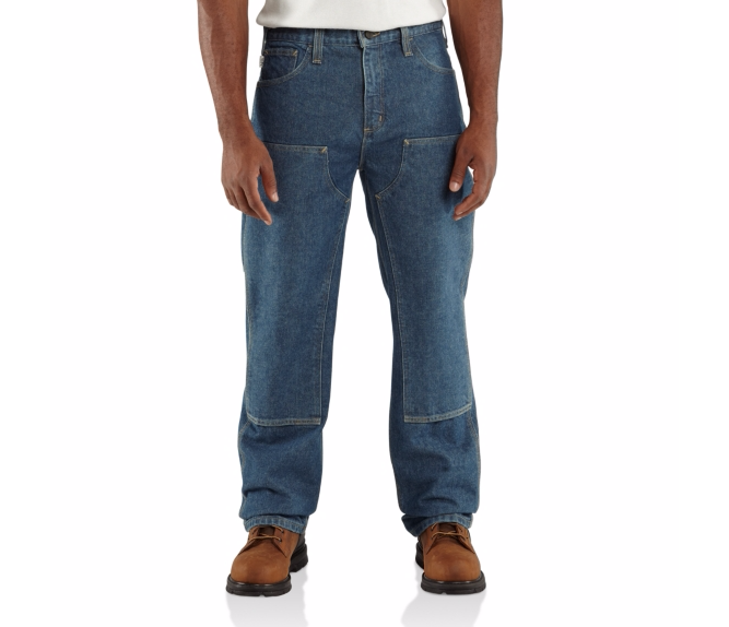 Carhartt - 100170 Men's Flame-Resistant Utility Denim Double-Front Jean Relaxed Fit