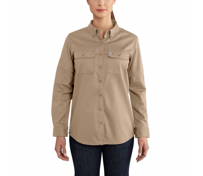 Carhartt - 102459 Women's Flame-Resistant Rugged Flex Twill Shirt, Pensacola, Embroidery, Screen Printing, Logo Masters International