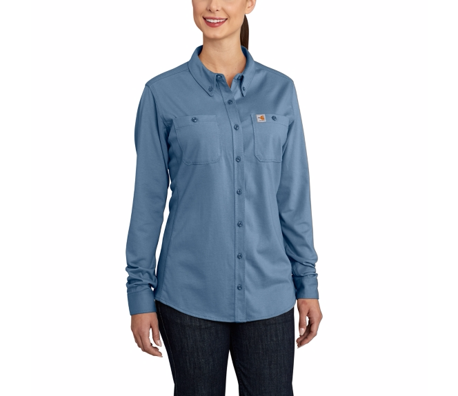 Carhartt - 102687 Women's Flame-Resistant Force Cotton Hybrid Shirt, Pensacola, Embroidery, Screen Printing, Logo Masters International