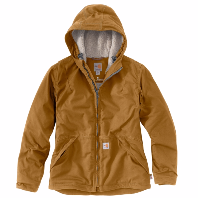 Carhartt - 102694 Women's Flame-Resistant Full Swing Quick Duck Jacket/Sherpa-Lined