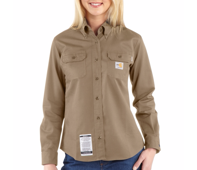 Carhartt - WFRS160, Women's Flame-Resistant Twill Shirt, Embroidery, Screen Printing - Logo Masters International