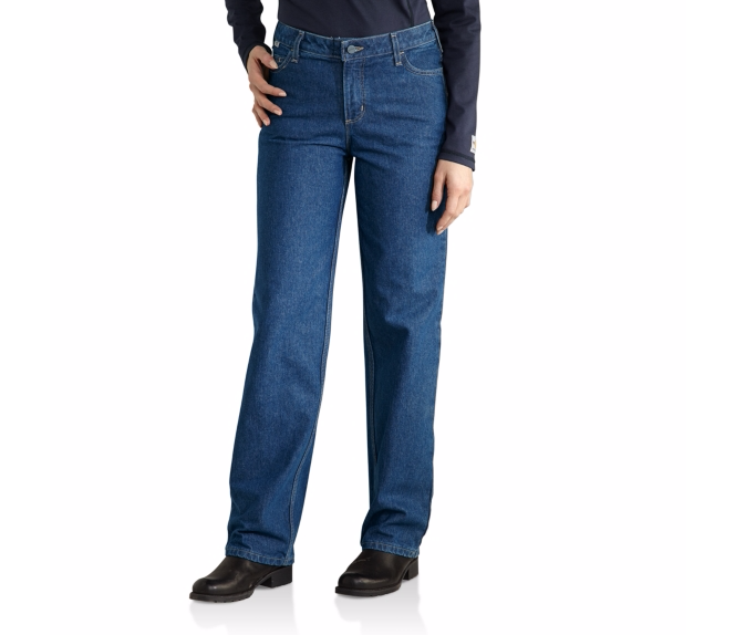 Carhartt - 101249 Women's Flame-Resistant Utility Denim Jean, Pensacola, Embroidery, Screen Printing, Logo Masters International