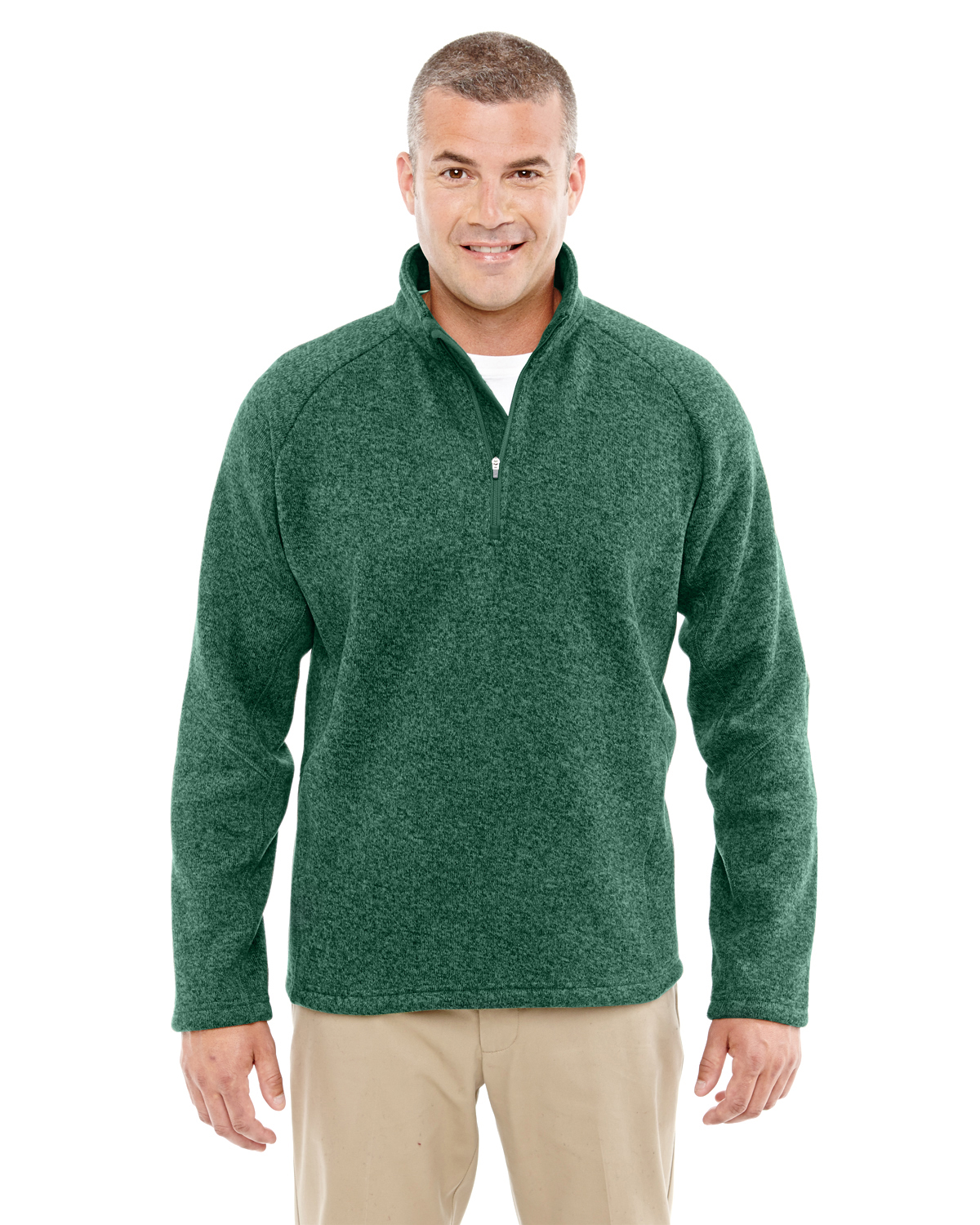 Devon & Jones - DG792 Men's Bristol Sweater Fleece Quarter-Zip, Pensacola, Embroidery, Screen Printing, Logo Masters International