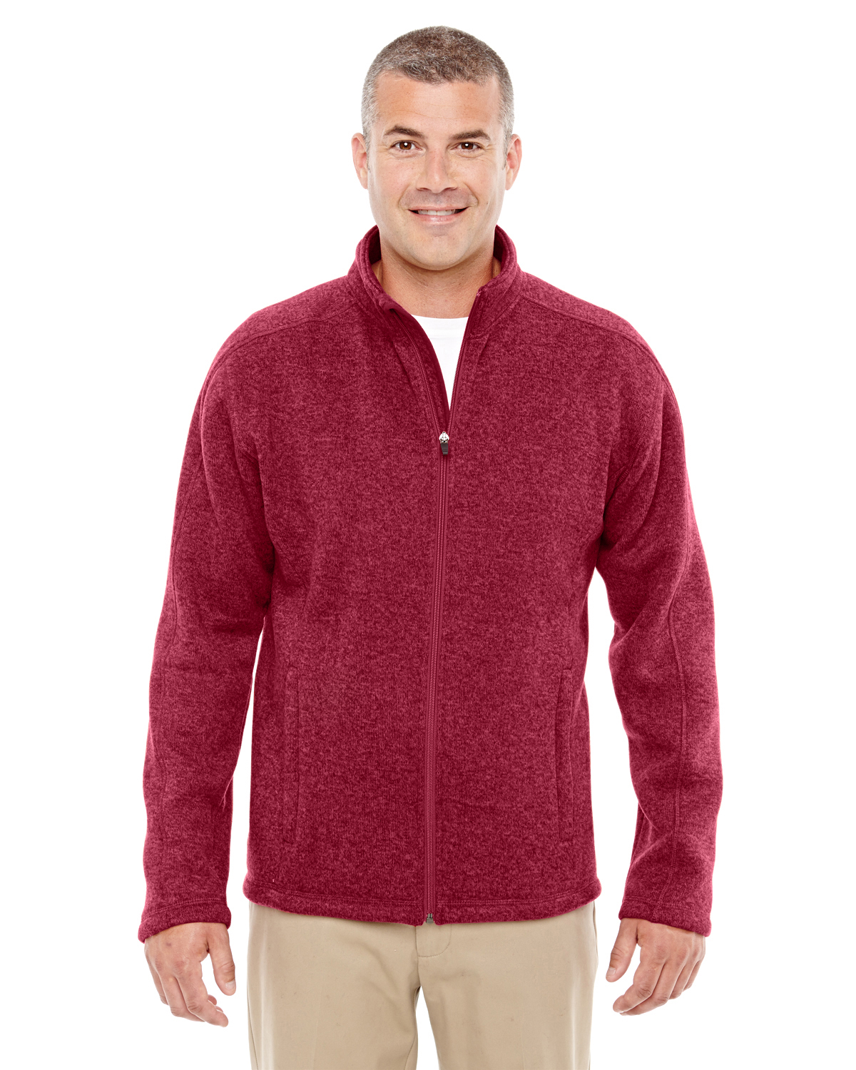 Devon & Jones - DG793 Men's Bristol Full-Zip Sweater Fleece Jacket