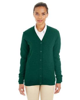 Harriton Ladies' Pilbloc V-Neck Button Cardigan Sweater