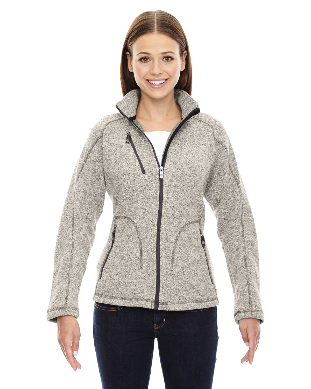 Ash City - 78669, North End Ladies' Peak Sweater Fleece Jacket, Embroidery, Screen Printing - Logo Masters International