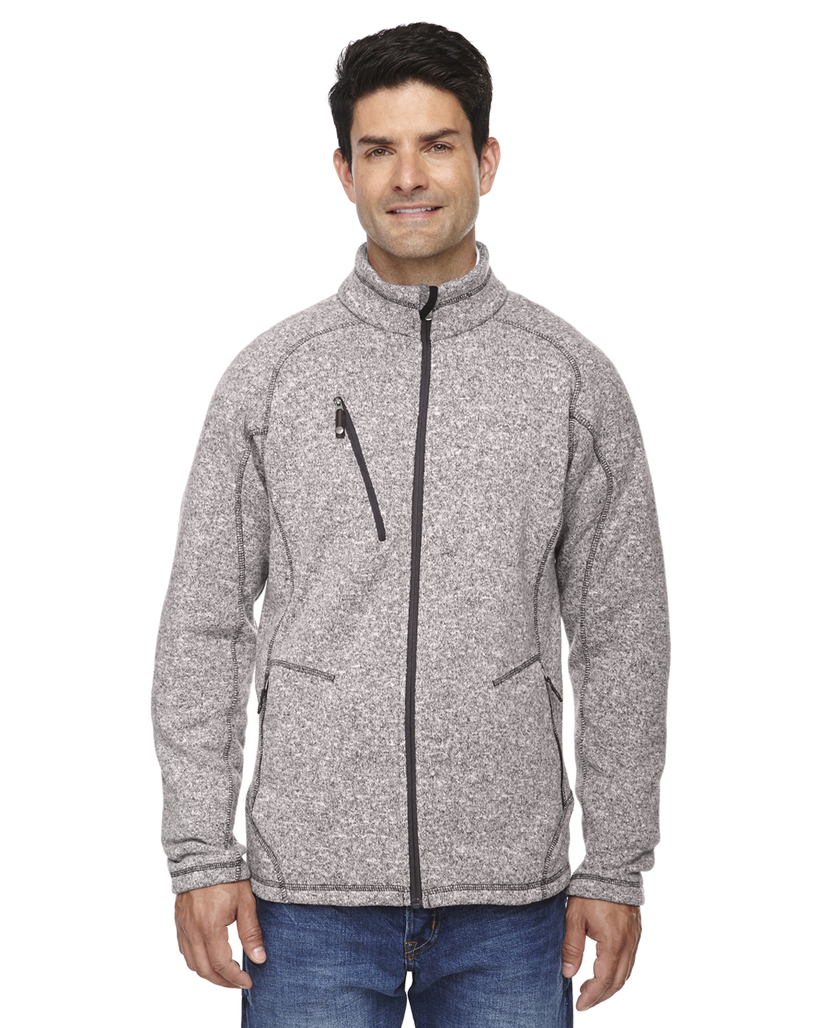 Ash City - 88669, North End Men's Peak Sweater Fleece Jacket - Logo Masters International