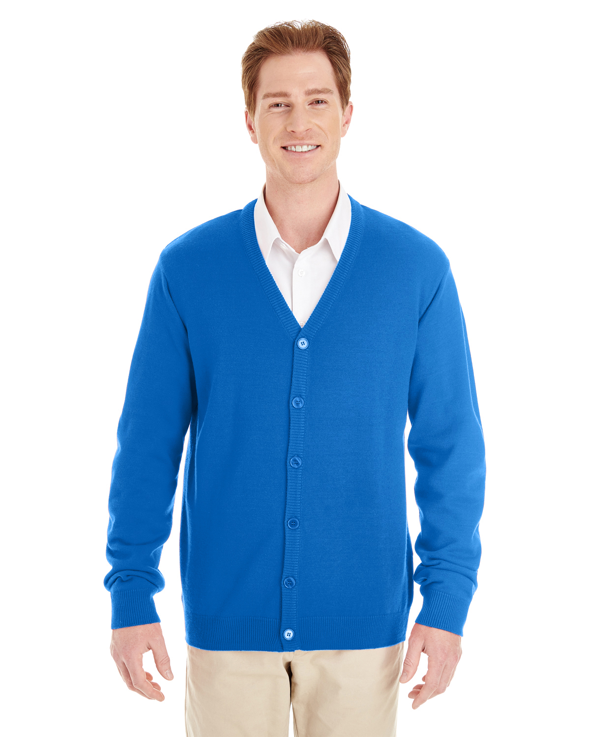 Harriton - M425 Men's Pilbloc V-Neck Button Cardigan Sweater, Pensacola, Embroidery, Screen Printing, Logo Masters International